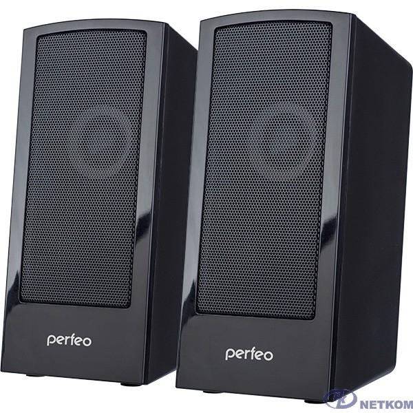 """Perfeo колонки """"CALIBR"""", 2.0, мощность 2х3 Вт, чёрн, USB"""