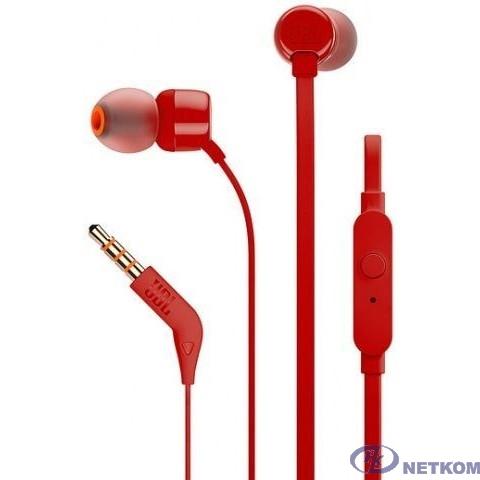 JBL TUNE110 Lifestyle 1.2м красный проводные (в ушной раковине)