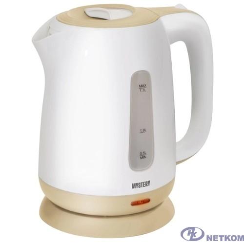 MYSTERY MEK-1637 Чайник, Мощность: 1800Вт, Объём 1,7 л., Цвет: Белый/Бежевый
