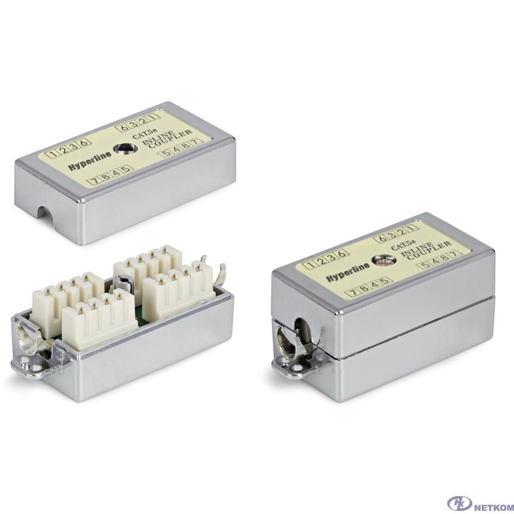 Hyperline CA-IDC-C5e-SH-F-WH Проходной адаптер (coupler), Dual IDC, категория 5e, 4 пары, экранированный