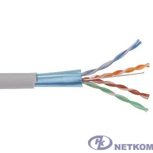 ITK LC1-C6A04-121 Кабель связи витая пара U/UTP, кат.6A 4 x 2 x 23AWG solid, LSZH, 305м, серый