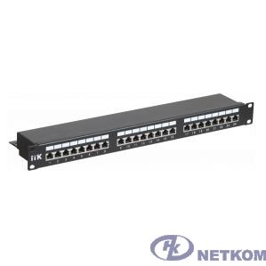 ITK PP24-1UC5ES-D05 1U патч-панель кат.5Е STP, 24 порта (Dual), с кабельным органайзером
