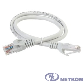 ITK PC01-C5EU-05M Коммутационный шнур (патч-корд), кат.5Е UTP, 0,5м, серый