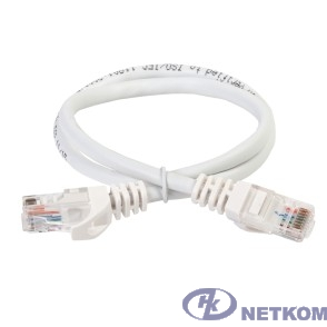 ITK PC08-C5EU-1M Коммутационный шнур (патч-корд), кат.5Е UTP, 1м, белый