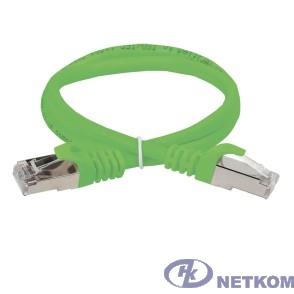 ITK PC02-C5EF-1M Коммутационный шнур (патч-корд), кат.5Е FTP, 1м, зеленый