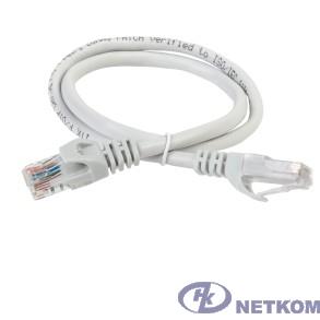 ITK PC01-C6U-1M Коммутационный шнур (патч-корд), кат.6 UTP, 1м, серый