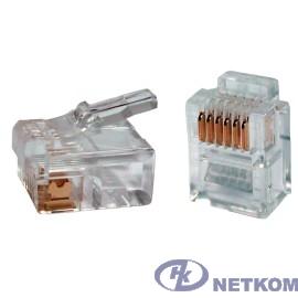 ITK CS3-2C3U Разъём RJ12 UTP для кабеля кат.3, 6P4C