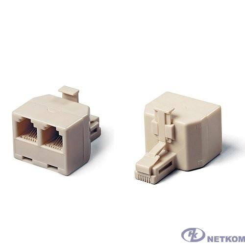Cablexpert US-12  Разветвитель  US-12 RJ45 8P8C (джек) -> 2x8P8C (розетки)