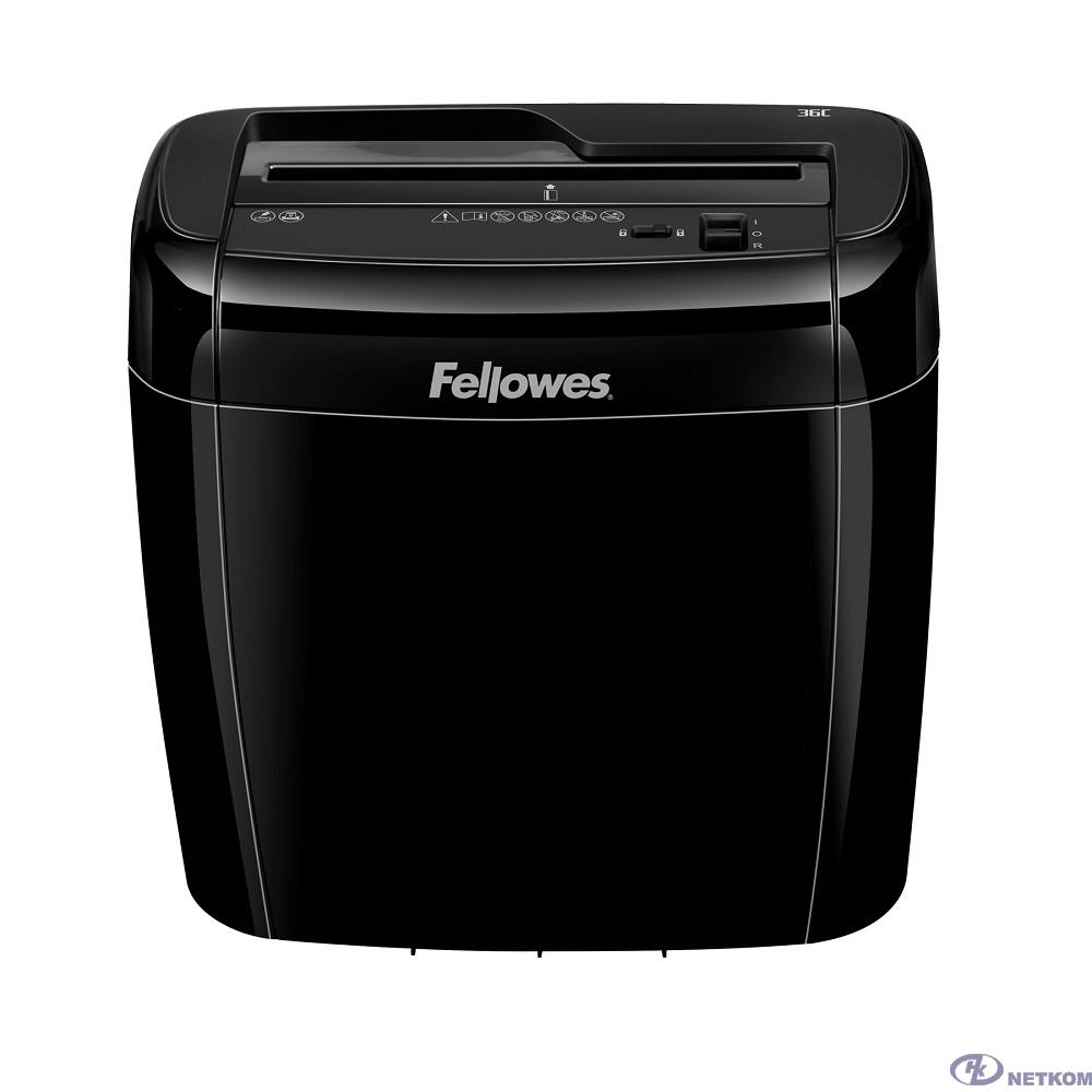 Fellowes Шредер Powershred® 36C FS-4700301 {DIN P-4, 4х40 мм, 6 лст., 12 лтр., Safety Lock}