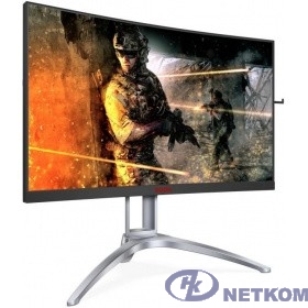 "LCD AOC 27"" AGON AG273QCX Black {VA Curved FreeSync2 HDR400 2560x1440@144Hz 1ms 178/178 400cd 3000:1 85%NTSC Frameless D-sub HDMIx2 DisplayPortx2 USB3.0x4 AudioOut 5Wx2 DTS}"