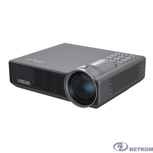 ASUS P3E Проектор {DLP, LED, WXGA 1280x800, 800Lm, 100000:1, HDMI, MHL, 1x2W speaker, 3D Ready, led 30000hrs, ultra short-throw, Silver, 0.55kg}