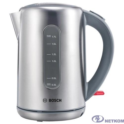 BOSCH TWK7901 Чайник, нерж. сталь, мощность 2200 Вт, 1,7л серебро