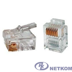 Gembird  Коннектор телефонный RJ12  6P6C (100 шт. в уп.!!!)