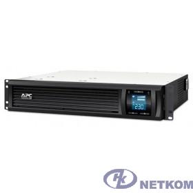 APC Smart-UPS C 1000VA SMC1000I-2URS {Line-Interactive, 2U RackMount, LCD, out: 220-240V 4xC13, LCD, Gray, 1 year warranty, No CD/ cables}