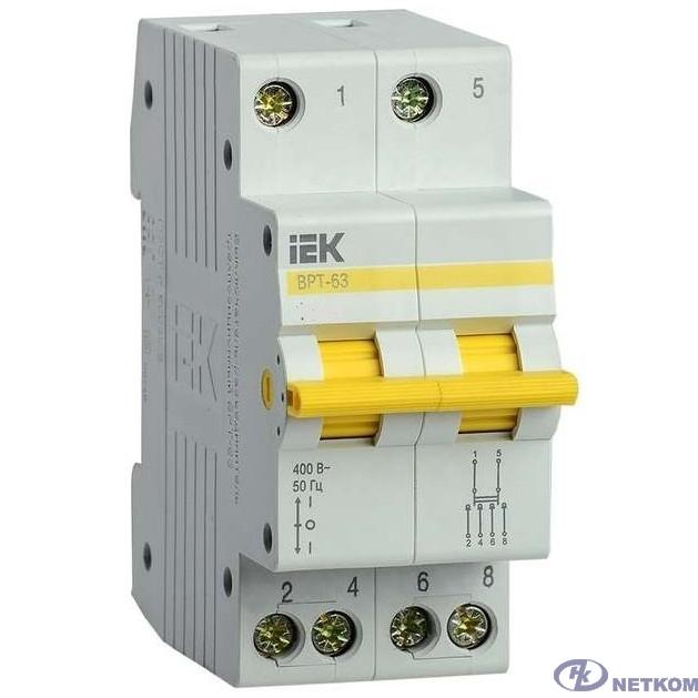 Iek MPR10-2-025 Выключатель-разъединитель трехпозиционный ВРТ-63 2P 25А