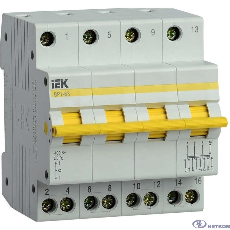 Iek MPR10-4-016 Выключатель-разъединитель трехпозиционный ВРТ-63 4P 16А