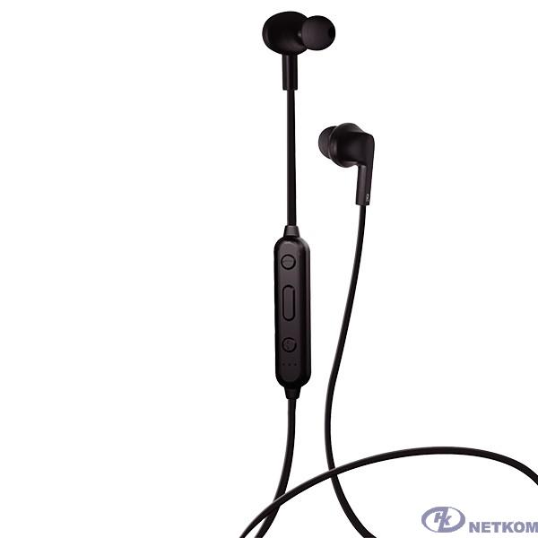 Perfeo наушники внутриканальные с микрофоном беспроводные TYRO чёрные PF_A4298