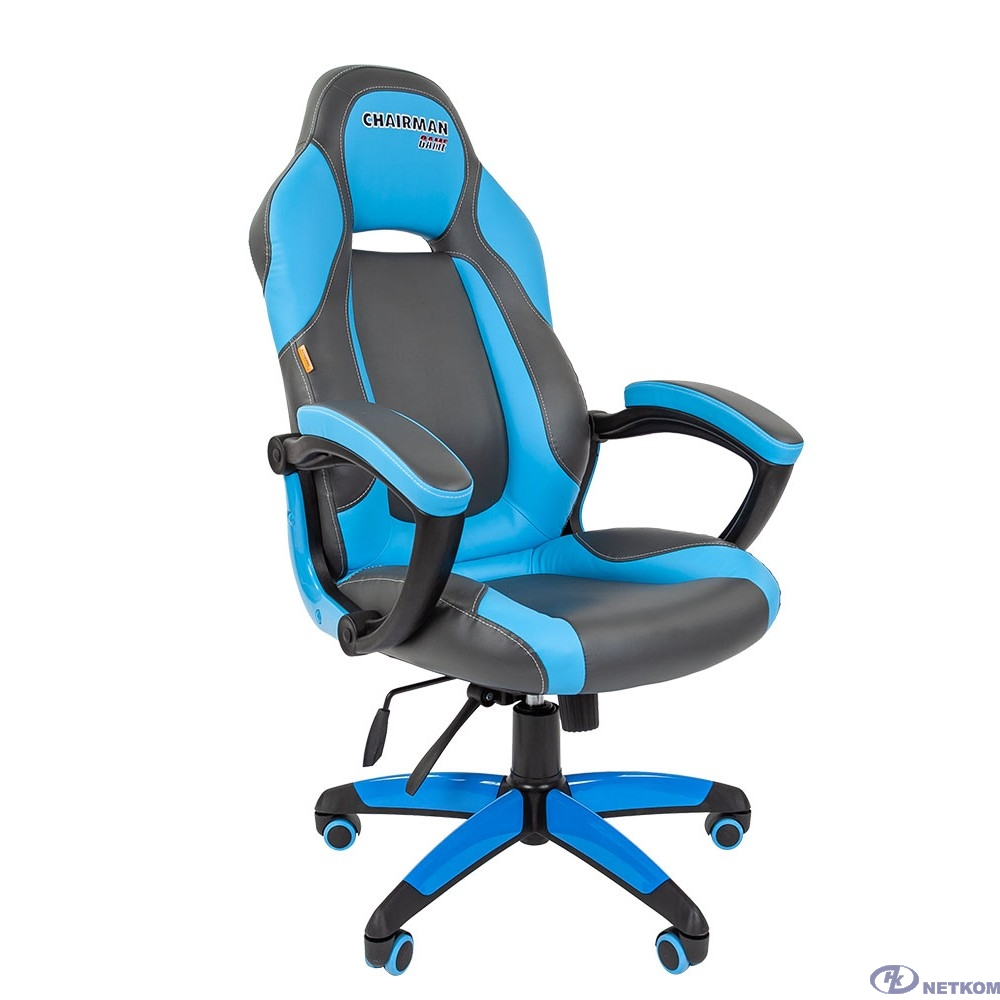 Офисное кресло Chairman   game 20 Россия экопремиум серый/голубой н.м. (7025817)