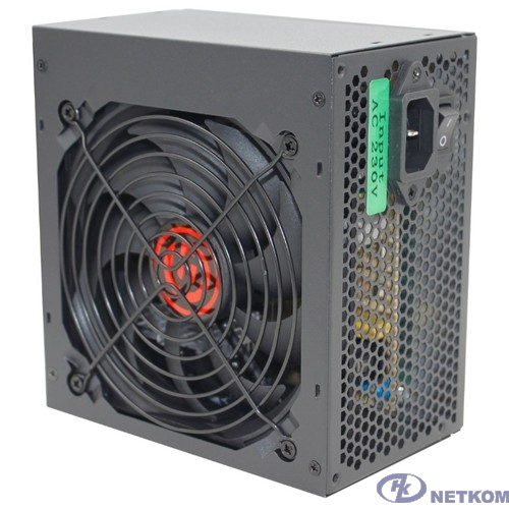 Ginzzu CB450 12CM black,24+4p,PCI-E, 3*SATA, 2*IDE,оплетка MB, кабель питания