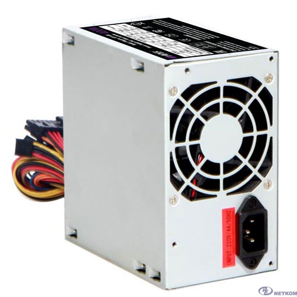 HIPER Блок питания HPT-400 (ATX 2.31, peak 400W, Passive PFC, 80mm fan, power cord) OEM