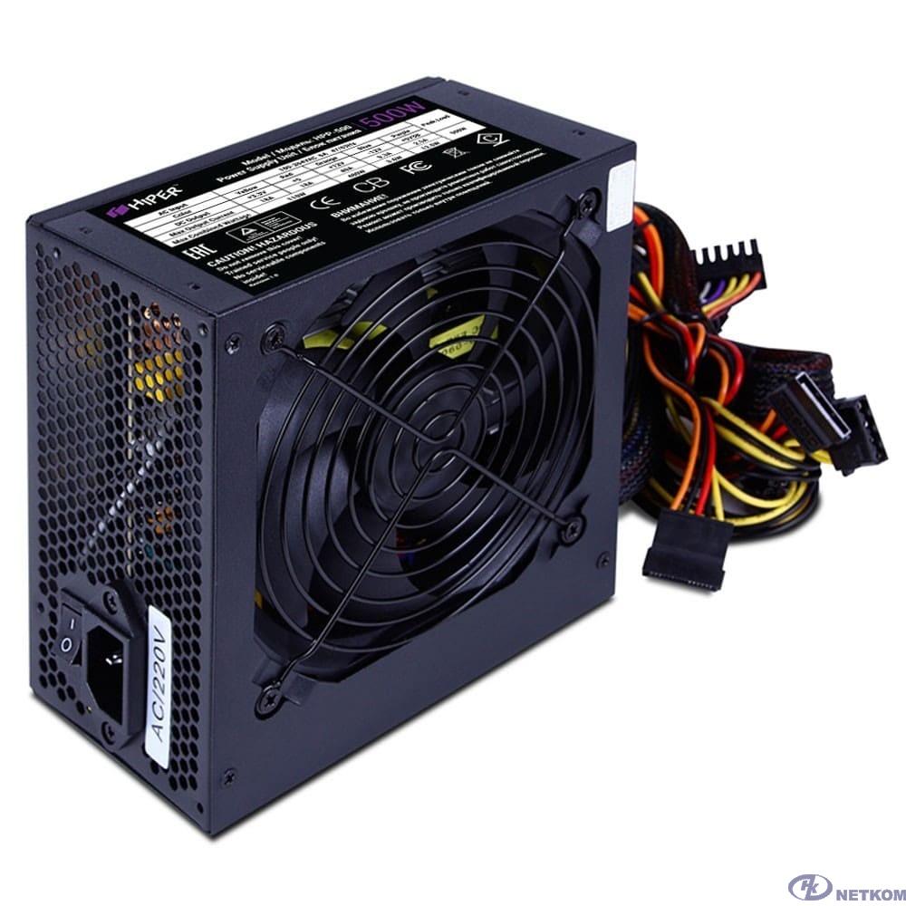 HIPER Блок питания HPP-500 BOX (ATX 2.31, 500W, Active PFC, 120mm fan, черный)