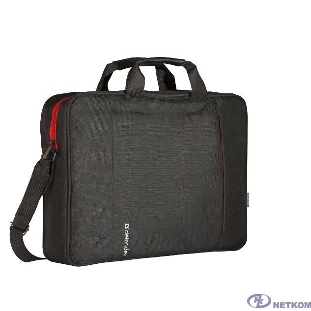 "Сумка для ноутбука Defender Geek 15.6"" черный, карман (26084)"