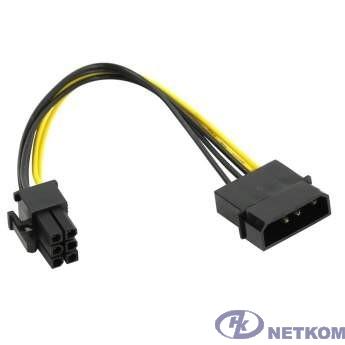 ORIENT C511, Переходник питания для PCI-Ex видеокарт Molex 4pin (M) -> 6pin