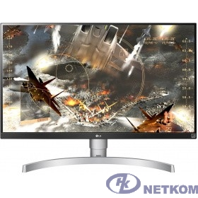 """LCD LG 27"""" 27UL650-W белый {IPS 3840x2160 5ms 350cd 1000:1(Mega DCR) DisplayPort HDMIx2 Audioout HAS Pivot vesa}"""