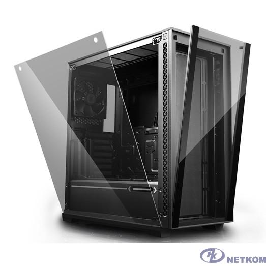 Deepcool MATREXX 70 ATX, Black, Стекл. фронтальная и боковая панели, Без БП