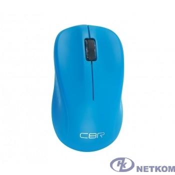 CBR CM 410 Blue, Мышь беспроводная, оптическая, 2,4 ГГц, 1000 dpi, 3 кнопки и колесо прокрутки, выключатель питания, цвет голубой