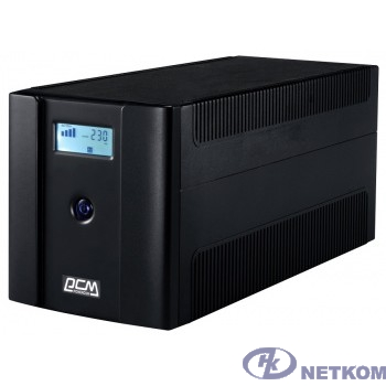 UPS PowerCom RPT-1025AP LCD {Line-Interactive, 1025VA/615W, Tower, 4xSchuko, LCD, USB}{1107532}