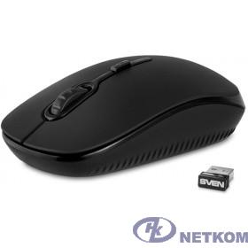 SVEN RX-510SW чёрная {Беспроводная мышь бесшумн. кл.2,4 GHz, 3+1кл. 800-1600DPI, цвет. картон}