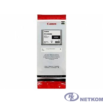 Canon PFI-320MBK  Картридж  для Canon TM-200/TM-205/TM-300/TM-305, матовый чёрный, 300 мл (GJ)