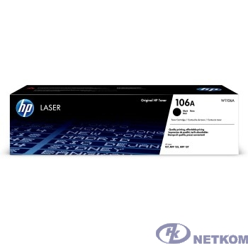 HP W1106A Картридж 106A лазерный черный (1000 стр) {HP LJ 107/135/La}