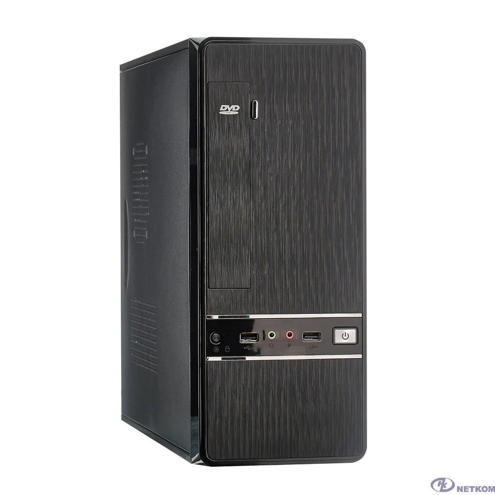 Exegate EX280444RUS Корпус Slim Minitower Exegate MS-305 Black, mATX <M300, 80mm> 2*USB, Audio