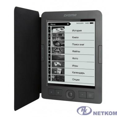 "Электронная книга Digma R656 Cover 6"" E-Ink Carta 800x600 600MHz/4Gb/microSDHC/frontlight темно-серый [1126118]"