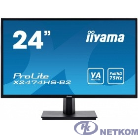 "IIYAMA 23.6"" X2474HS-B2 черный {VA LED 1920x1080 4ms 16:9 250cd 3000:1 178/178 HDMI DisplayPort 2x2W}"