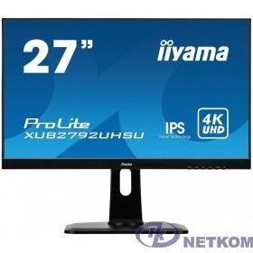 """IIYAMA 27"""" XUB2792UHSU-B1 черный {IPS LED 3840x2160 5ms 16:9 300cd 178/178 DVI HDMI DisplayPort USBHub}"""