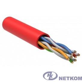 ITK LC1-C5E04-124 Витая пара U/UTP кат.5E 4x2x24AWG LSZH красный (305м)