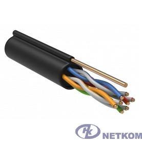 ITK LC3-C5E04-159 Витая пара U/UTP кат.5E 4x2x24AWG LDPE трос 1,2мм (305м)