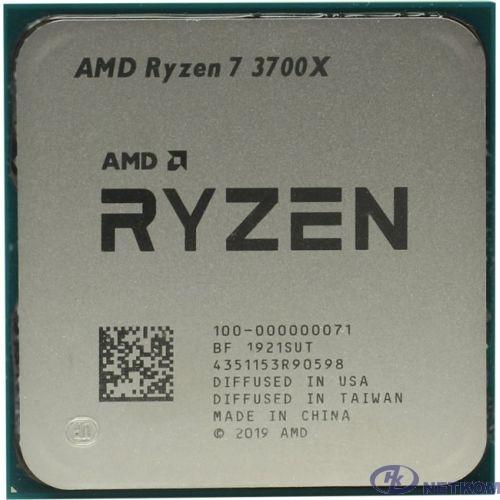 CPU AMD Ryzen 7 3700X OEM {3.6GHz up to 4.4GHz/8x512Kb+32Mb, 8C/16T, Matisse, 7nm, 65W, unlocked, AM4}