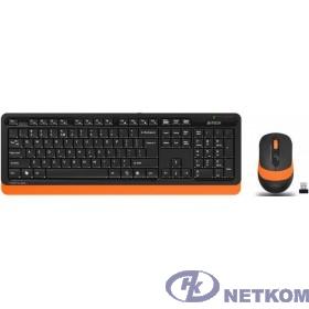 A-4Tech Клавиатура + мышь A4 Fstyler FG1010 ORANGE клав:черный/оранжевый мышь:черный/оранжевый USB беспроводная [1147574]