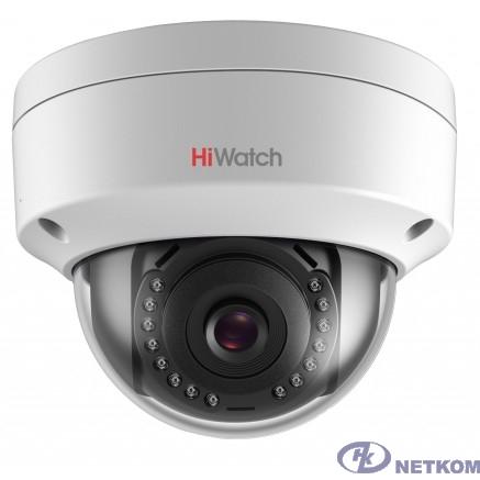 HiWatch DS-I402(B) (2.8 mm) Видеокамера IP 2.8-2.8мм цветная корп.:белый