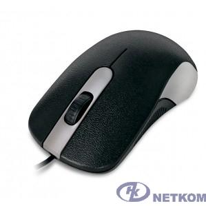 CBR CM 105 Silver, Мышь проводная, оптическая, USB, 1200 dpi, 3 кнопки и колесо прокрутки, длина кабеля 1,8 м, цвет чёрный-серебристый