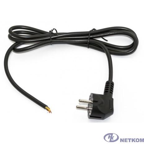 Hyperline PWC-SHM-OE-5.0-BK кабель с вилкой Schuko (open end), длиной 5м (3x1.0 кв.мм), цвет черный