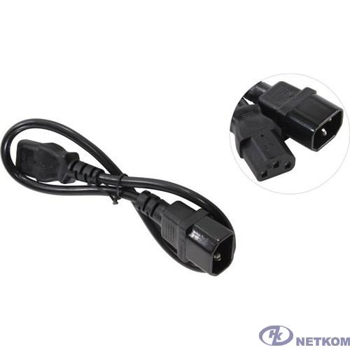Exegate EP280620RUS Кабель монитор - компьютер (UPS->устройство) ExeGate Power EC-0,5P (IEC 320 С13->С14) VDE-250V-3*0.75mm2-медь, черный, 0.5м.