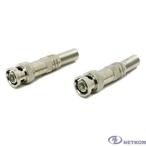 ORIENT C667, Разъем BNC (2шт.) под винт для коаксиального кабеля, металлический колпачок с пружиной