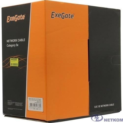 Exegate EX281811RUS Кабель Exegate  FUTP4-C5e-CU-S24-IN-PVC-GY-305 FTP 4 пары кат.5e медь, 24AWG, экран, бухта 305м, серый, PVC