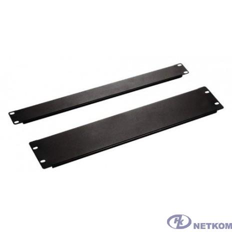 Hyperline BPV-0.5-RAL9005 Фальш-панель на 0.5U, цвет черный (RAL 9005)