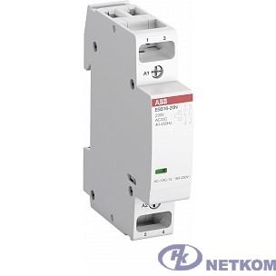 ABB 1SBE121111R0611 Контактор ESB20-11N-06 модульный (20А АС-1, 1НО+1НЗ), катушка 230В AC/DC